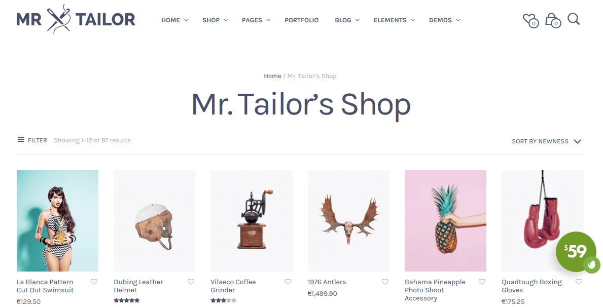 Mr. Tailor theme